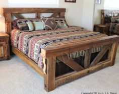 homemade rustic bed frames - Google Search