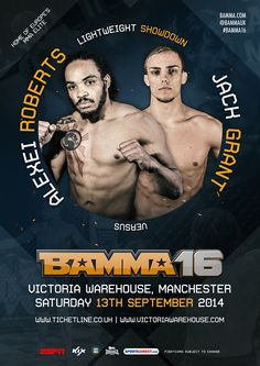 Alexei Roberts Vs Jack Grant #BAMMA16 #MMA #MixedMartialArts #UFC #BAMMA