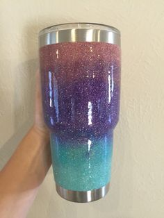 Mixed Glitter YETI Rambler Tumbler 30oz by ARanchersDaughter