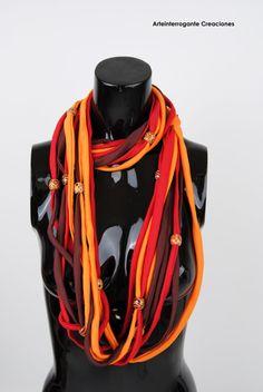 tribal ethnic Necklace/scarf  Echarpe/collier  por ArteinterrogantE, €12.00