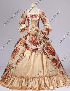 Renaissance Victorian Chiffon Dress Ball Gown Lolita Reenactment Costume