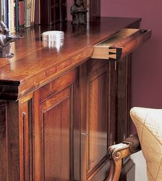 Artichoke are experienced in bespoke library design and cabinet making for country and town houses. Discuss your project with our expert team today. Diy Furniture Renovation, Furniture Ideas, Secret Compartment Furniture, Period Living, Dado Rail, Joinery Details, Secret Space, Secret Storage, Bedroom Wardrobe