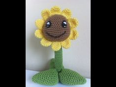 Tutorial Girasol Amigurumi (Sunflower) Paso A Paso en Español - YouTube