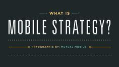 """What Is Mobile Strategy? ,"" by Mutual Mobile"