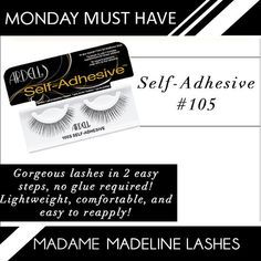 bb081b92e1f Ardell Self Adhesive Lashes 105S are the perfect lash on the go! Equiped  with self