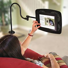 iPad Holder - great for using his iPad while exercising or lying in bed!