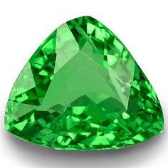 2.05-Carat Trilliant-Cut Neon Green Tsavorite Garnet from Kenya #StarRubyin