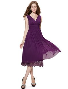 Amazon.com: HE0279BPP08, Purple, 6US, Ever Pretty Mother of the Bride Dresses 0279B: Clothing