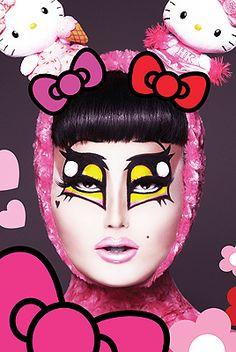 Kim Chi, @kimchi_chic, RPDR8, Anime Drag, Hello Kitty Drag.