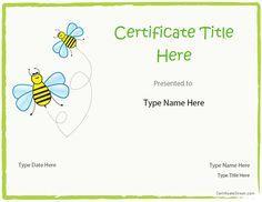 Blank Certificate - Blank Certificate Template for Kids |  CertificateStreet.com