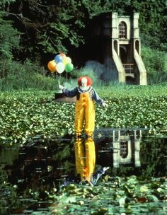 Pennywise!     One of the saddest horror stories! I cried for every one of those kids but when the little brother in the raincoat got eaten I lost it.