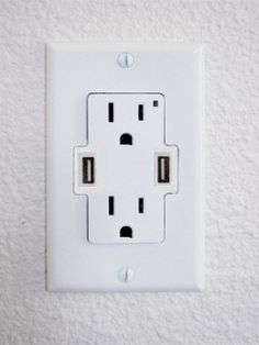 USB wall outlets. What took so long? Thank you!