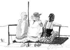 Ink sketch Greece 2012
