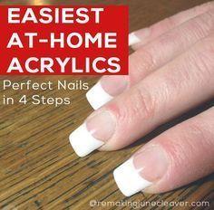easiet diy acrylic nails