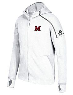 d021240a2ba Miami RedHawks Men s Adidas ZNE Hoodie  (Cotton poly blend full zip hood -