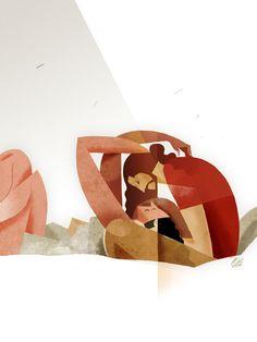the kiss by Riccardo Guasco, via Behance