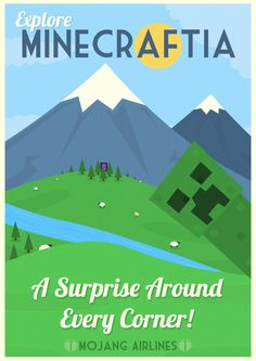 Minecraftia Travel Poster by ~W0op-W0op #gaming #minecraft #poster