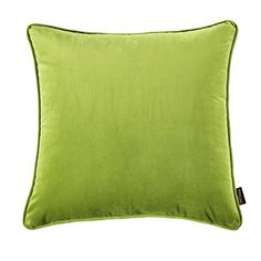 nioBomo Super Soft Solid Decorative Throw Pillow Case Cushion Cover 18 X 18 matcha * Details can be found by clicking on the image. Sofa Cushion Covers, Cushion Fabric, Cushion Pillow, Sofa Throw Pillows, Velvet Pillows, Throw Pillow Cases, Cover Pillow, Green Velvet Fabric