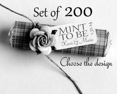 Shower or wedding favors Set of 200 Mint by BabyEssentialsByMel