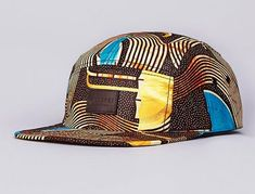 African Pattern 5 Panel Hat by Flatspot x Less