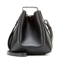 3.1 Phillip Lim - Quill Mini leather bucket bag - This season the bucket bag is at the top of our wish list. The 'Quill Mini Bucket' from 3.1 Phillip Lim is a new design for the brand, which is sure to become a big hit. A black leather body, completed with sturdy straps, boasts the option of being cinched in at the top, giving this charming design a completely different look. seen @ www.mytheresa.com
