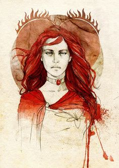 Melisandre of Asshai, by Elia Mervi