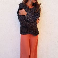 Luxury knitted sweater. So simple but so chic!!! EstherTg