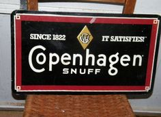 $OLD Copenhagen Tobacco Sign