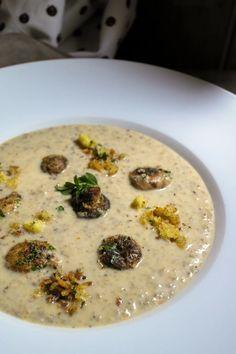 Μανιταρόσουπα και μία τεχνική που αξίζει να γνωρίζετε ⋆ Cook Eat Up! Kai, Soup, Soups, Soup Appetizers
