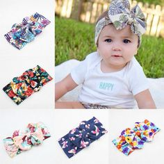 Niños diadema turbante fotografía floral Accesorios para ropa de bebé de la flor del bowknot de la banda para la cabeza del bebé - Banggood Móvil