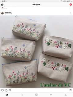 Bolsos bordados A baby blanket – which carries a mini wash prime in addition to Embroidery Purse, Hand Embroidery Videos, Embroidery Flowers Pattern, Simple Embroidery, Hand Embroidery Stitches, Silk Ribbon Embroidery, Crewel Embroidery, Hand Embroidery Designs, Machine Embroidery