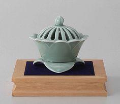 Tokyo Matcha Selection - [Value] Arita Celadon Porcelain Cencer : Flower - Incense Burner Holder w Base, $165.00 (http://www.tokyo-matcha-selection.com/value-arita-celadon-porcelain-cencer-flower-incense-burner-holder-w-base/)
