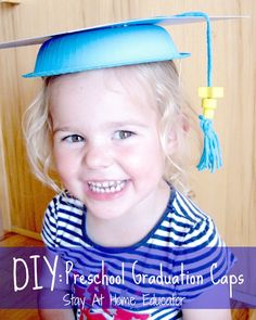 DIY preschool graduation caps tutorial - Stay At Home Educator