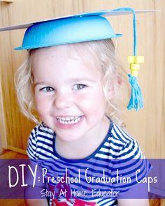 DIY preschool graduation caps tutorial - Stay At Home Educator