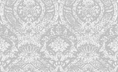 Iron Damask (SK175103) - Shand Kydd Wallpapers - A bold damask created using a hand printed effect shown in silver and white. This is a pre pasted wallcovering. Please request a sample for a true colour match.