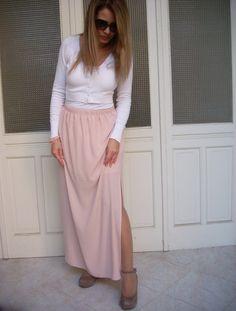 Gonna+lunga+con+spacchi+laterali+di+MelinaECris+su+DaWanda.com Skirts, Etsy, Fashion, Moda, La Mode, Skirt, Fasion, Fashion Models
