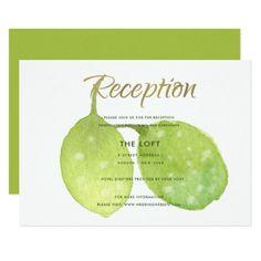 #TROPICAL GREEN WATERCOLOUR LEAF RECEPTION INVITE - #barn #wedding #rustic #invitation #cards #party #ideas