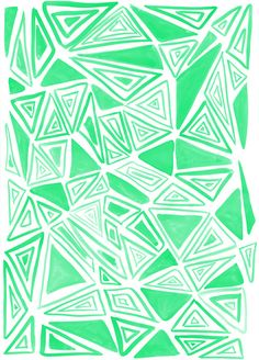 Triangles Green by Amy Sia http://society6.com/product/triangles-green-0w7_print#1=45