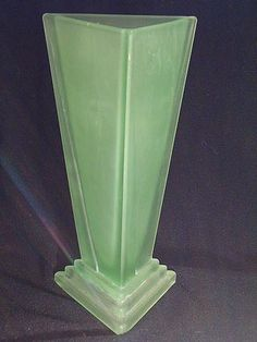 Bagley Art Deco Glass Vase c. 1935 (...I dang nearly bought one of these at a WWII event - but I really didn't want to pay $50 for a vase...)