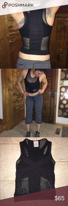 🌻PHAT BUDDAH mesh tank top✌🏻 EUC. Like new. Super fly yoga, workout tank. Nordstorm brand ✌🏼size XS pants are lululemon 😎 ⭐️Pants sold separately⭐️ lululemon athletica Tops