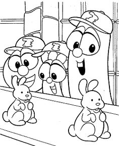 Just Coloring Pages: Printable larry boy coloring pages Amazing Coloring sheets -