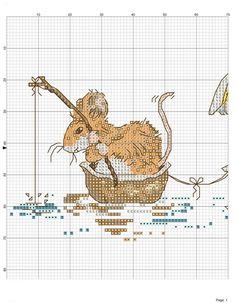 Just Cross Stitch, Cross Stitch Baby, Cross Stitch Kits, Cross Stitch Designs, Margaret Sherry, Cross Stitching, Cross Stitch Embroidery, Mouse Crafts, Yarn Projects