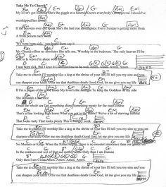 Take Me To Church (Hozier) Guitar Chord Chart with Lyrics - http://www.youtube.com/munsonmusiclive