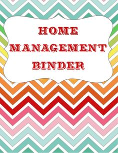 diy home sweet home: Let's Get ORGANIZED - Home Management Binder {free printables}