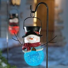solar sammy snowman holiday garden stake in our catalog solar sammy snowman availability in - Solar Powered Outdoor Christmas Decorations