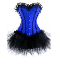 Blue corset / burlesque dress