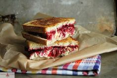 Roast Turkey, Blue Brie and Cranberry Chutney Grilled Cheese