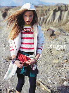 Laura de Sugar Kids para Editorial Vogue Niños
