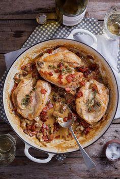 Creamy bacon and mushroom chicken breasts #Recipe