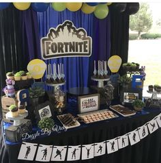 Las mejores 30 ideas para fiesta de fornite 7th Birthday Party Ideas, 11th Birthday, Birthday Party Decorations, Birthday Celebration, Party Themes, Birthdays, Video Game Party, Cute Ideas, Ideas Aniversario